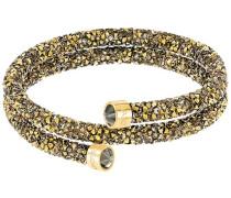Crystaldust Doppel-Armreif, goldfarben, vergoldet Mehrfarbig dunkel vergoldet