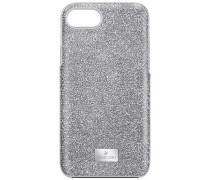 High Smartphone Etui mit Bumper, iPhone® 8, grau Edelstahl