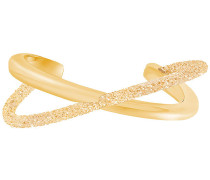 Crystaldust Cross Armreif, goldfarben, vergoldet Braun vergoldet
