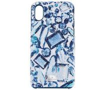 High crystal Smartphone Etui mit Bumper, iPhone® X, mehrfarbig Edelstahl