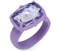 Jewel-y McHue-y Small Ring, mattes lila Finish Lila Rhodiniert