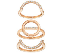 Flash Ring Set Weiss Rosé vergoldet