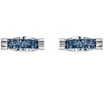 Crystaldust Manschettenknöpfe, blau, Edelstahl Edelstahl