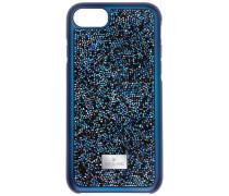 Glam Rock Smartphone Etui mit Bumper, iPhone® 8, blau Edelstahl