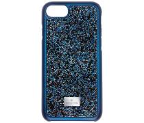 Glam Rock Smartphone Etui mit Bumper, iPhone® 8 Plus, blau Edelstahl