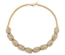 Moselle Halskette, vergoldet Braun vergoldet