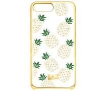 Lime Smartphone Etui mit Bumper, iPhone® 8 Plus, transparent vergoldet
