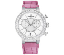 Citra Sphere Chrono Pink Uhr Weiss Edelstahl