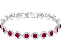 Angelic Armband, rot, Rhodiniert
