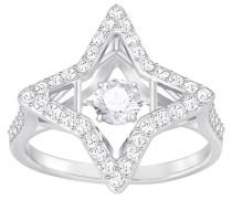 Sparkling Dance Star Ring, weiss, rhodiniert Weiss Rhodiniert