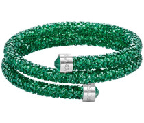 Crystaldust Doppel-Armreif, grün, Edelstahl Grün Edelstahl