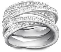 Spiral Ring, weiss, rhodiniert Weiss Rhodiniert