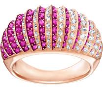 Luxury Domed Ring, rosa, Rosé vergoldet