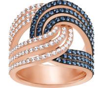 Lemon Knot Ring, blau, Metallmix