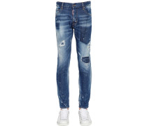 17CM JEANS AUS DENIM IM CITY BIKER FIT