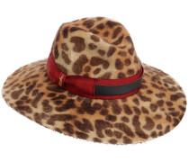 SOPHIE LEOPARD PRINT BRIMMED FELT HAT