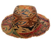 PRINTED HAT W/ FRINGE