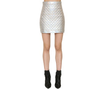 QUILTED IRIDESCENT MINI SKIRT