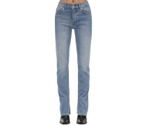 STRAIGHT LEG COTTON DENIM JEANS