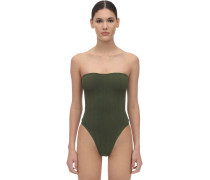 AUDREY STRAPLESS RIBBED NILE SWIMSUIT