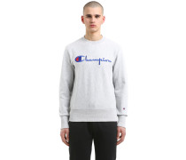 SWEATSHIRT AUS FRENCH TERRY MIT LOGOSTICKEREI