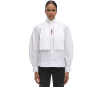 BACK WRAPPED COTTON POPLIN SHIRT