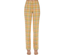 NORMA COTTON BLEND STRAIGHT PANTS