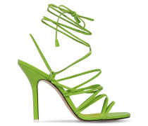 105MM LEATHER LACE UP SANDALS