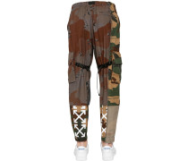 RECONSTRUCTED CAMO COTTON CARGO PANTS