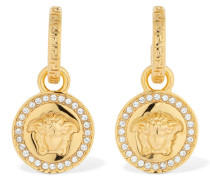 MEDUSA ICON EARRINGS W/ CRYSTALS
