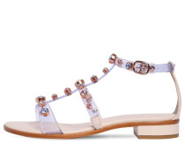 20MM DINA EMBELLISHED PLEXI SANDALS