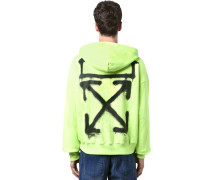 OVER PRINT SPRAY PAINTING JERSEY HOODIE