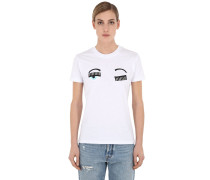 EMBROIDERED COTTON JERSEY T-SHIRT