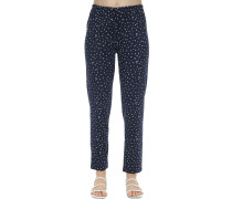 SLIM BLOOM PRINTED JERSEY PAJAMA BOTTOMS