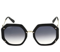 FERRAGAMO RECTANGLE ACETATE SUNGLASSES