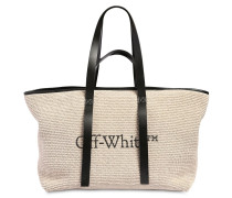 COMMERCIAL CANVAS & LEATHER TOTE BAG
