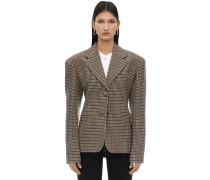 KENDALL CHECK WOOL BLAZER
