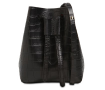 MINEE CROC EMBOSSED FAUX LEATHER BAG