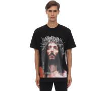 JESUS PRINTED COTTON JERSEY T-SHIRT