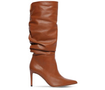 85MM HOHE LEDERSTIEFEL 'LUCY'