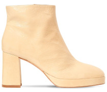 75MM EDITH PATENT LEATHER ANKLE BOOTS