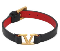 VALENTINO LOGO LEATHER BRACELET
