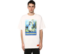 PRINTED OVER COTTON JERSEY T-SHIRT