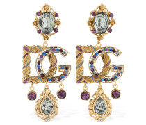 MULTI CRYSTALS BAROCCO CLIP-ON EARRINGS