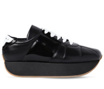 40MM LEATHER PLATFORM SNEAKERS