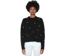 EMBELLISHED WOOL & CASHMERE KNIT PULLOVER