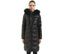 ALIA PARKA DOWN COAT W/ FUR TRIM