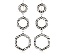 HEXAGON CRYSTAL DROP EARRINGS