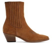 40MM SUEDE ANKLE BOOTS