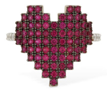 RING 'PIXEL RED HEART'